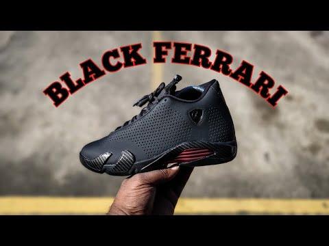 """🔥FIRST LOOK🔥 AIR JORDAN 14 RETRO SE """"BLACK FERRARI"""" REVIEW"""