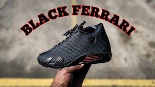 """FIRST LOOK AIR JORDAN 14 RETRO SE """"BLACK FERRARI"""" REVIEW"""