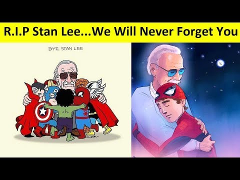 Goodbye Stan Lee: Best Of Fans Tribute Arts All Over The World