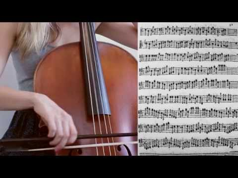 Giovanni Battista Degli Antonii - Ricercar Decima on baroque cello, sheet music