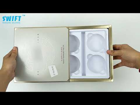 Cosmetic paper drawer box. Gold printing - Swift Packaging