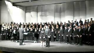 "Northwest Missouri State University sings ""Rejoice!"" by Jeffery L. Ames"