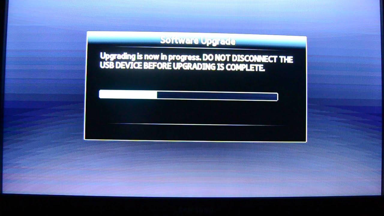 Updating samsung blu ray player firmware