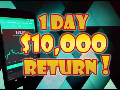 Robinhood APP - Portfolio SURGES $10,000 in 1 Day! | Record Gain!