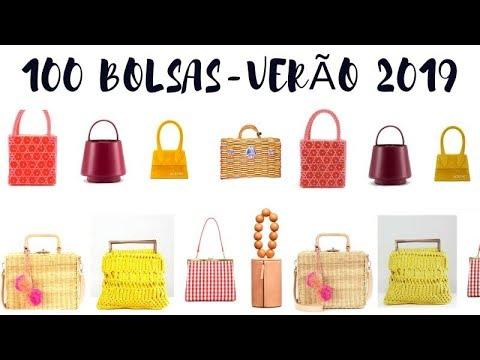 1318d328e 100 BOLSAS - TENDÊNCIAS DO VERÃO 2019 - YouTube