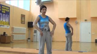 Уроки восточных танцев. Горизонтальные круги грудью и тазом