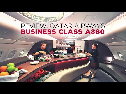 REVIEW: Qatar Airways Business Class A380 from Doha to Atlanta Inaugural Flight + Al Mourjan Lounge