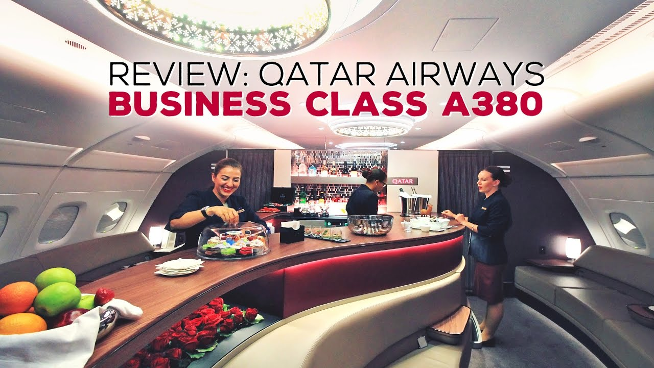 REVIEW Qatar Airways Business Class A380 From Doha To Atlanta Inaugural Flight Al Mourjan Lounge