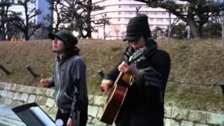 2015.1.11 NHK大阪ホールワンマンライブを控えた大阪天王寺ストリート出...
