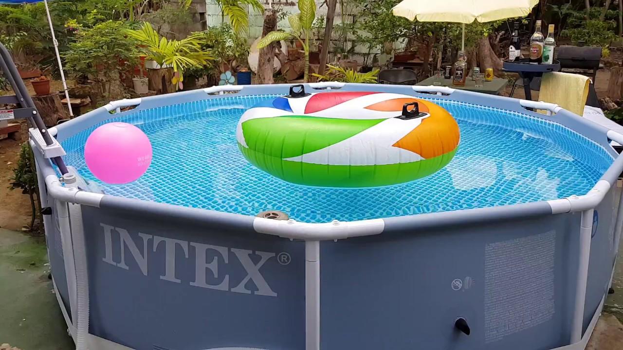 piscina intex prisma frame 305 x 76 pool intex youtube. Black Bedroom Furniture Sets. Home Design Ideas