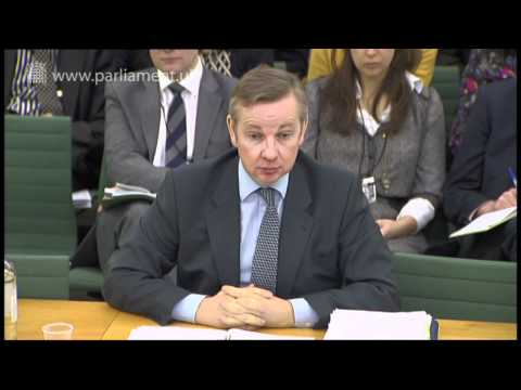 Michael Gove answers #AskGove twitter questions during Education Committee evidence session