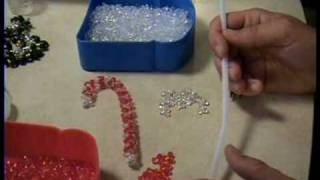 Candy Canes Beaded for Christmas Tree