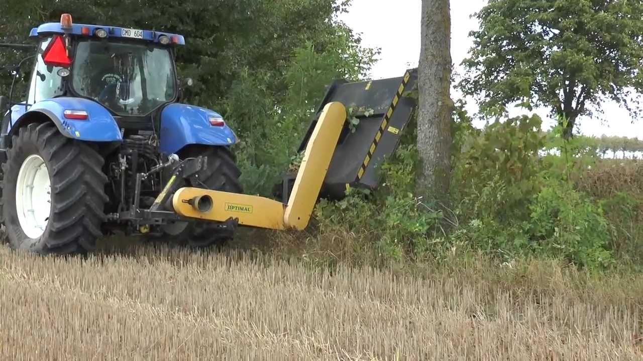 New Holland T7 185 Clearing Bushes From A Ditch With A