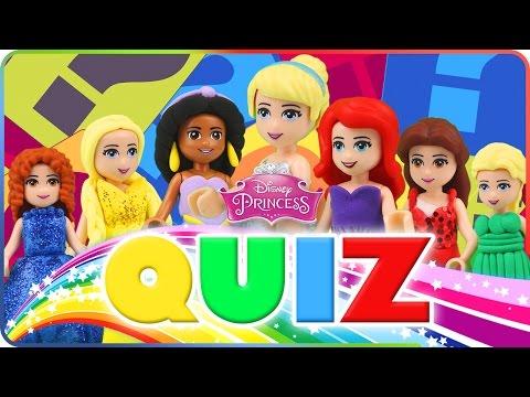 ♥ LEGO Disney Princess KIDS QUIZ | How Good You Know Our Cartoons?