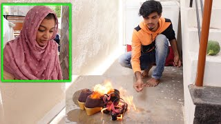 BURNING PAMI's SHOE & CHAPPAL..🤪🤪 SHE WENT SAD..😢