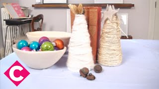Christmas Decoration: Rustic Mini Tree For Mantel