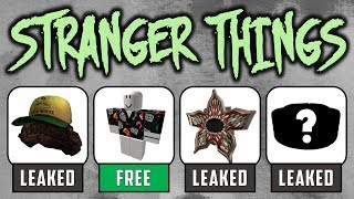 Roblox Stranger Things Event Leaked! & FREE SHIRT!