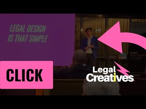 Legal Design is that simple with Legal Creatives @ Future of contracting, Stockholm.