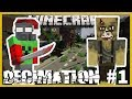 Minecraft - DECIMATION MOD, REALISTIC ZOMBIE MOD ( PT1 INTRO, MELEE WEAPONS AND MOBS)