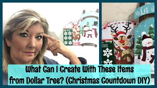 What Can I Create With These Items from Dollar Tree? (Christmas Countdown DIY)