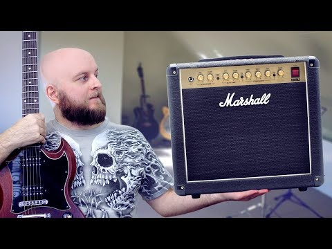 The Best Tube Combo For Home? - Marshall DSL5CR Review And Demo (all valve guitar amp)