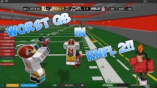 WORST QB IN RNFL 2!!! - Roblox NFL 2 Funny Moments #3