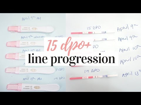 PREGNANCY TEST LINE PROGRESSION 2019 | NO POSITIVE UNTIL 15