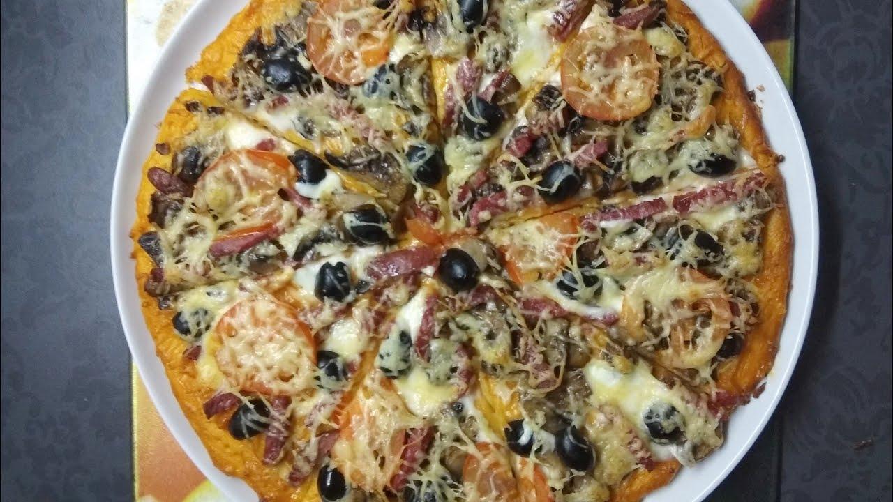 Пицца из того, что есть. Быстрая пицца.