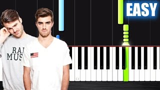 The Chainsmokers - Paris - EASY Piano Tutorial by PlutaX