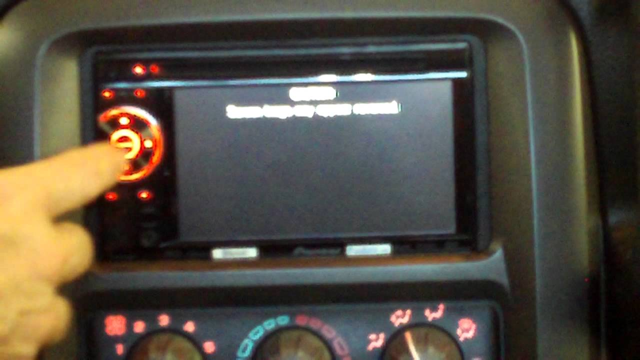 Pioneer Avh P3100dvd Bluetooth Adapter Blank Screen With Message Problem Youtube