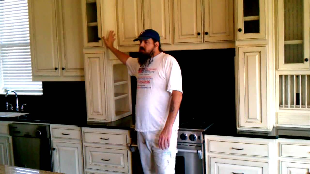 Antique Glaze Cabinets - Antique Glaze Cabinets - YouTube