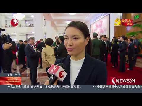 东方新闻 - 吴敏霞 Wu Minxia  走上党代表通道的奥运冠军