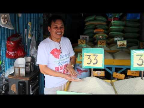 Rice dealer at Pampang market in Pampanga Philippines