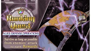 [Crash fever] Ranking Quest-ALICE Defense Operations 30F