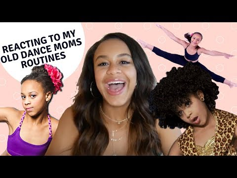REACTING TO OLD DANCE MOMS ROUTINES | NIA SIOUX