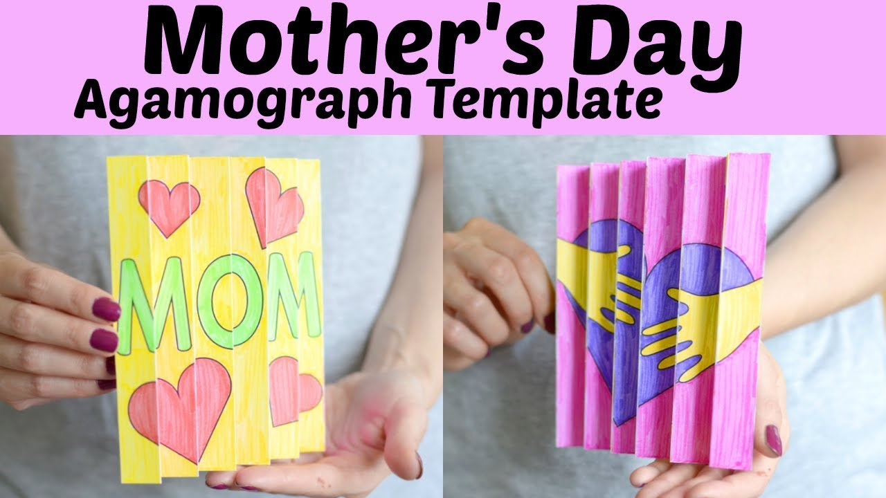 Mother S Day Craft For Kids Agamograph Template Youtube