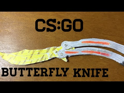 How to make a paper CS:GO Butterfly knife