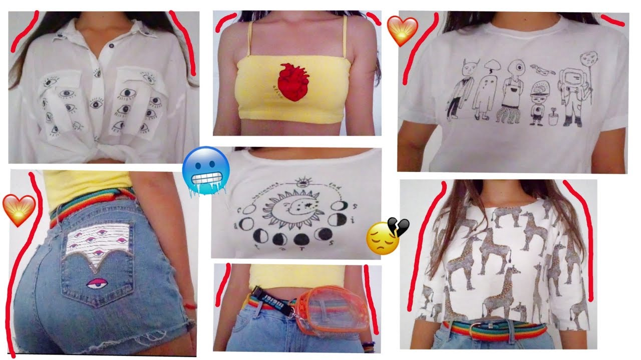 diY aEsThEtiC cLoThEs vol.2 🦋 (broke edition) - YouTube