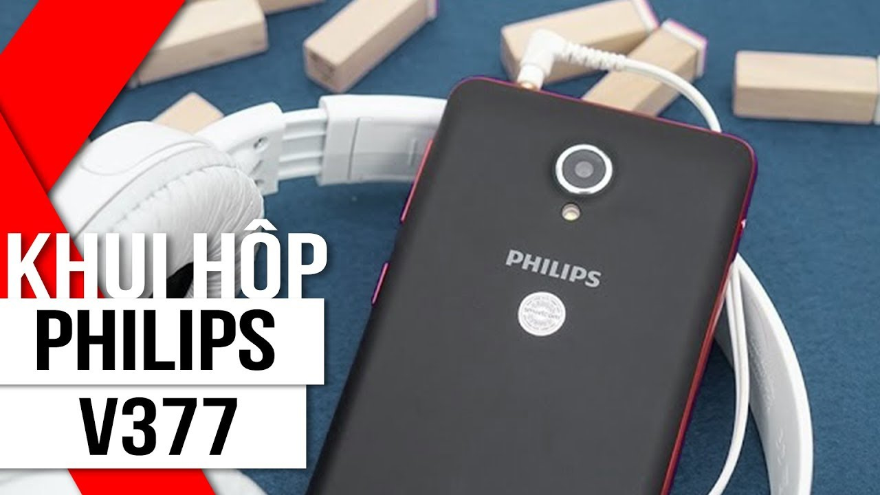 FPT Shop – Khui hộp Philips V377 – Smartphone tốt, pin 5000 mAh cực khủng