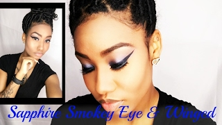 Sapphire Smokey Eye & Wing Liner Tutorial