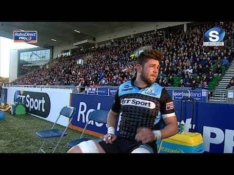 Ryan Wilson Yellow Card - Glasgow Warriors v Ulster 18th April 2014
