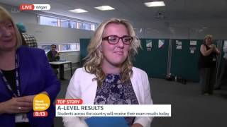 A Level Results Live On TV - Georgia Cann | Good Morning Britain