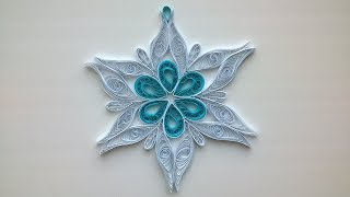 Quilling Сhristmas decorations: make beautiful Quilling snowflake.