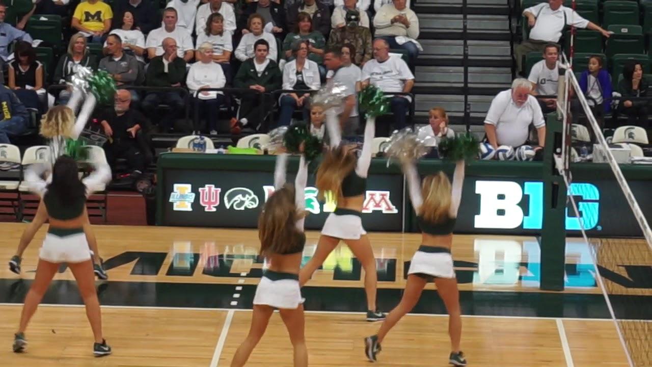 MSU Dance Team Volleyball game vs U of M - YouTube