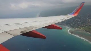 Southwest Airlines Takeoff at Montego Bay MBJ with B737-700W
