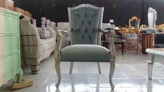 Luxurious silver arm chair
