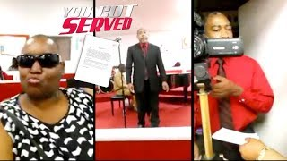 Man Gets Served Child Support Papers By His Baby Mama At Church.