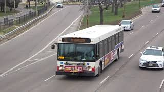Buses in Chicago, USA 2018