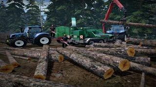 Farming Simulator 2015 ㋡ Zawód Drwal czyli leśne prace ☆ MafiaTeamLs