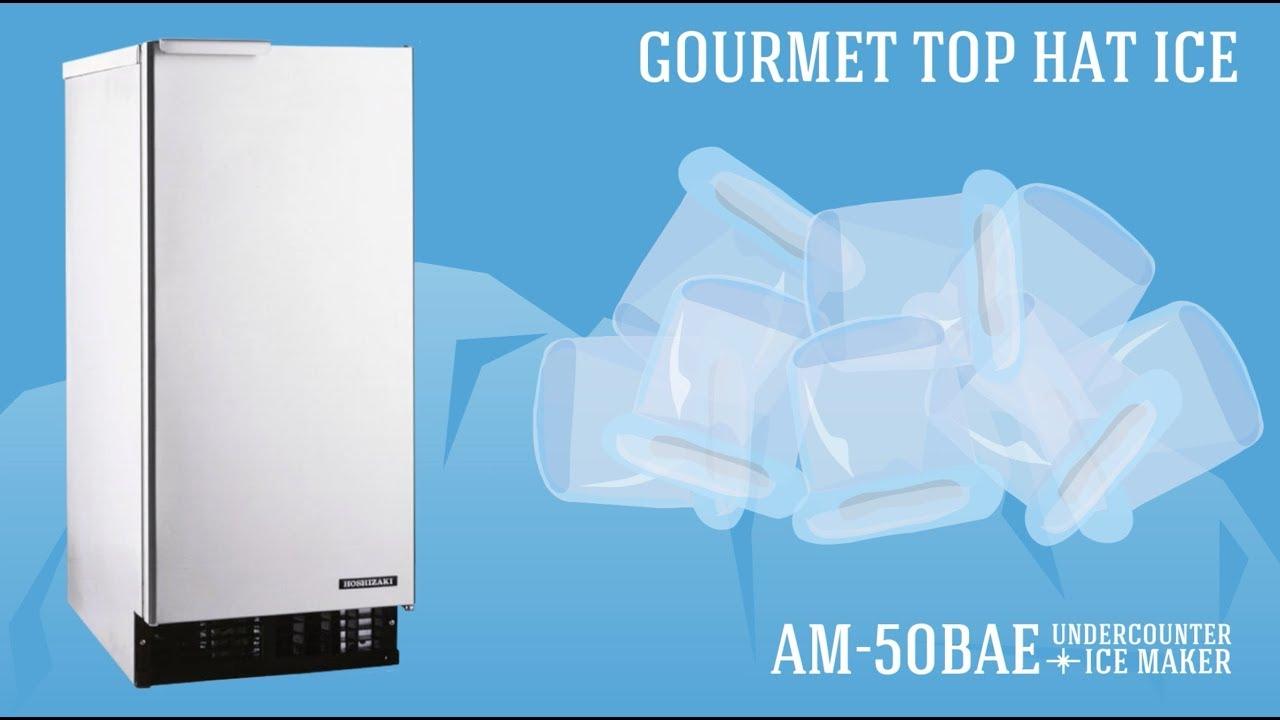 Hoaki Am 50bae Undercounter Top Hat Ice Maker